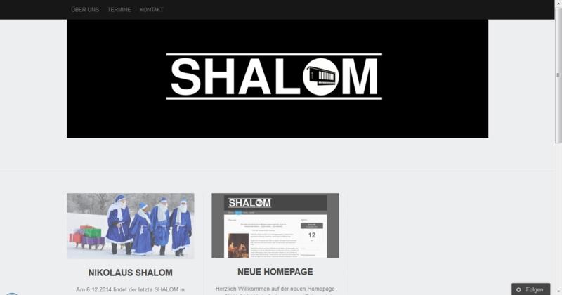 SHALOM nun mit Homepage