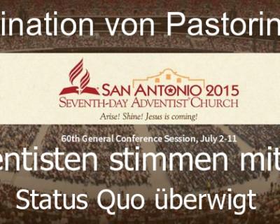 Ordination von Pastorinnen abgelehnt.