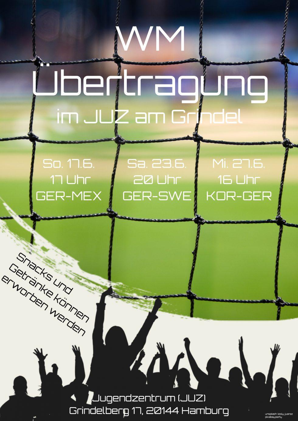 WM Deutschland-Spiele im JUZ | Adventhaus Grindelberg