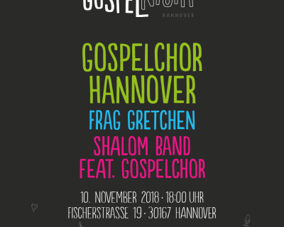 SHALOM auf der Gospelnight in Hannover 10.11.2018