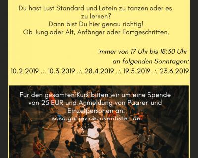 Grindel Tanz-Lounge Kurs ab Februar