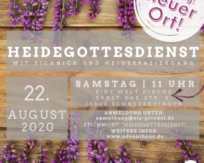 Heidegottesdienst am 22.08.2020 findet statt!!