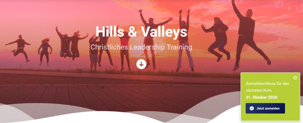 Hills & Valleys Ausbildungsstandorte Hamburg und Herne ab 2021