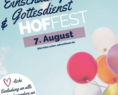 Einschulungsgottesdienst & Hoffest